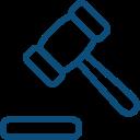ícone de marreta de juiz