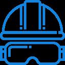 ícone de capacete de proteção