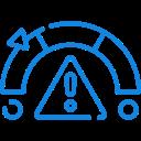 ícone de medidor de risco