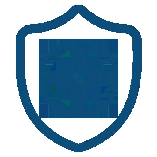 ícone de escudo com sinal de saúde