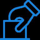 ícone de urna de votação